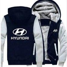 Зимняя мода hoodeis молния hyundai толстовки мужские толстовки утолщение плюс бархатное пальто для мужской одежды