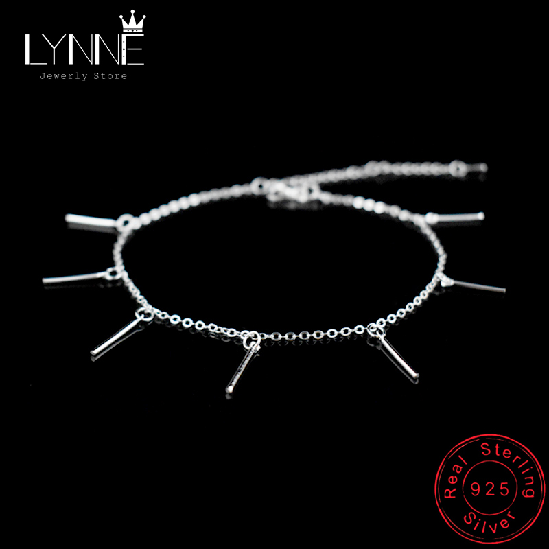 Hot Fashion Simple Arch Bridge Pendants Anklets Bracelet 925 Sterling Silver Summer Anklet For Women Jewelry Beach Foot Chain