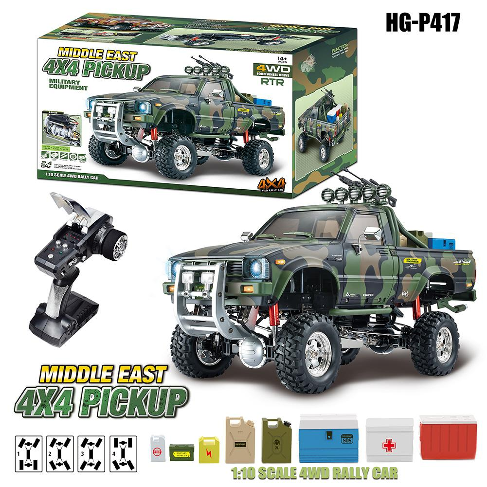 HG P417 1/10 2.4G 4WD RC Car 4X4 EP Pickup Vehicles Rock Crawler Truck without <font><b>Battery</b></font> Charger Model(excluding <font><b>battery</b></font> charger) image