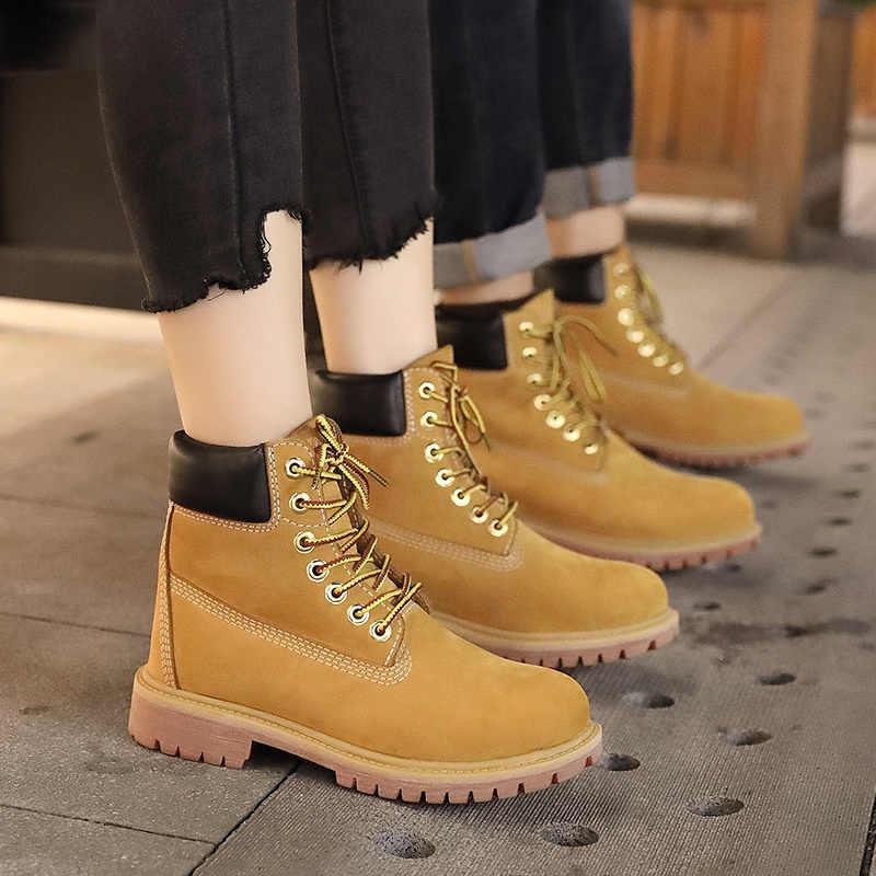 Lüks Erkekler Hakiki Deri Çizme Erkekler Kış Çizmeler ayak bileği bağcığı Kar Botları Erkekler Su Geçirmez İlk katman sığır derisi Botları Sarı Ayakkabı