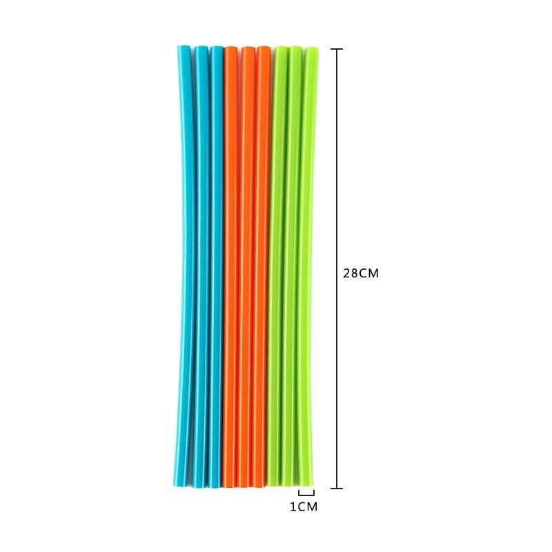 1 шт многоразовые силиконовые соломинки для питья высокая термостойкость Защита окружающей среды Drinkwar соломинки принадлежности для кухонного бара
