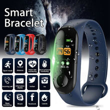M3 Color Screen Smart Band Bracelet Watch Fitness Activity Tracker Sport Wristband Heart rate Blood 2019 smart band women men 0 96 color screen heart rate blood pressure monitor wristband sport activity tracker fitness bracelet