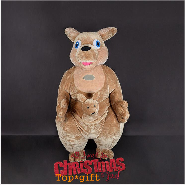 Advertising Kangaroo Inflatable Mascot Costume Animal Party Game Dress 2.6m Suit Clothing Advertising Xmas Adults Size