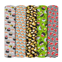 50*145cm Food Fruit Printed Polyester Cotton Fabric for Tissue Kids Home Textile for Sewing Doll Dress Curtain,1Yc11151