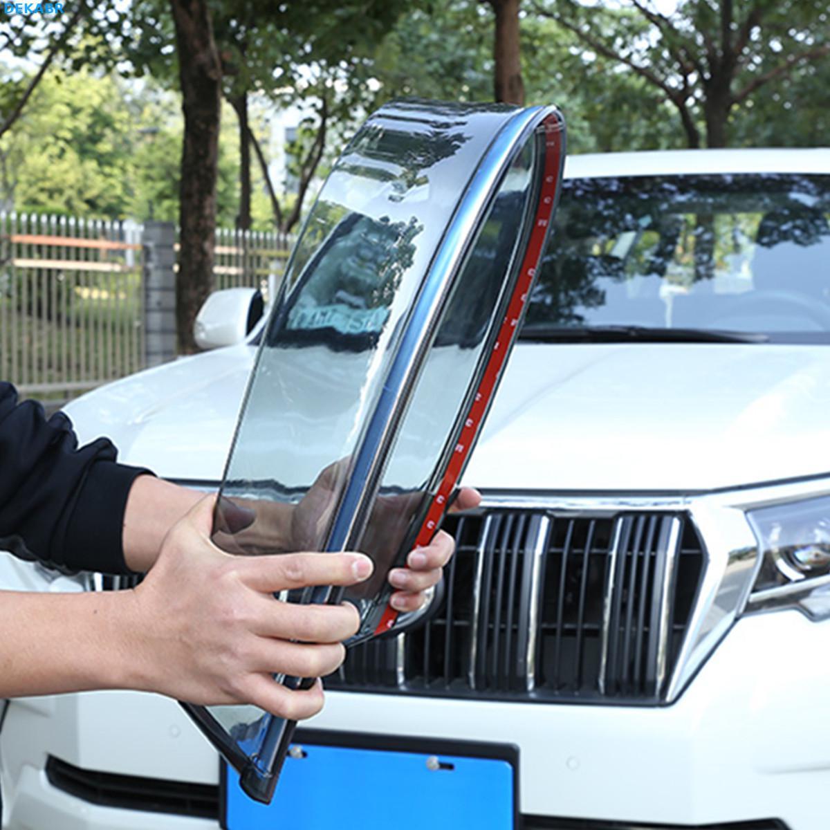 4 stks/set Auto Windows Vizier voor Toyota Prado 150 Regen onderdak in regenachtige dagen 2010 2011 2012 2013 2014 2015 2016 2017 2018 2019