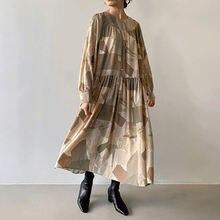 Женское платье с цветочным принтом элегантное винтажное универсальные
