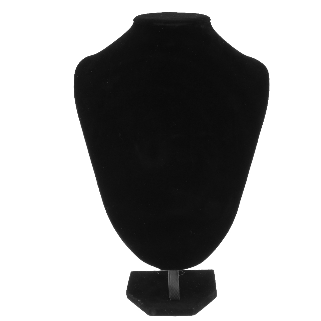 Velvet Necklace Pendant Jewelry Display Bust Mannequin Stand Holder Rack - 4 Sizes