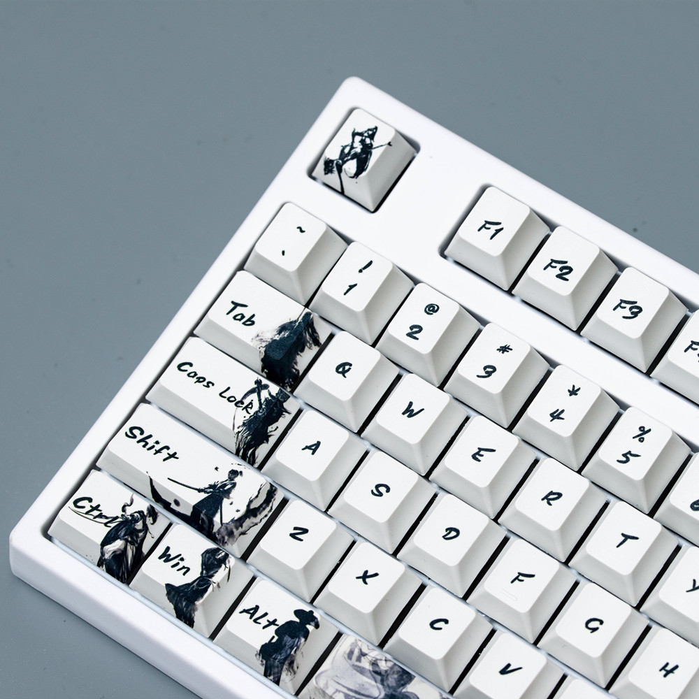 The Knight's Five-sided PBT Sublimation Keycap Ink Key Caps Personality Original Factory High Mechanical Keyboard 108 keys