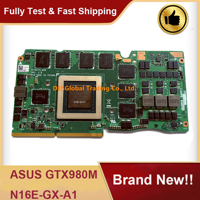 Brand New GTX 980M GTX980M N16E-GX-A1 DDR5 8GB VGA Video Graphics Card For ASUS G750J G750JY G750JYA 100% Test Fast Shipping