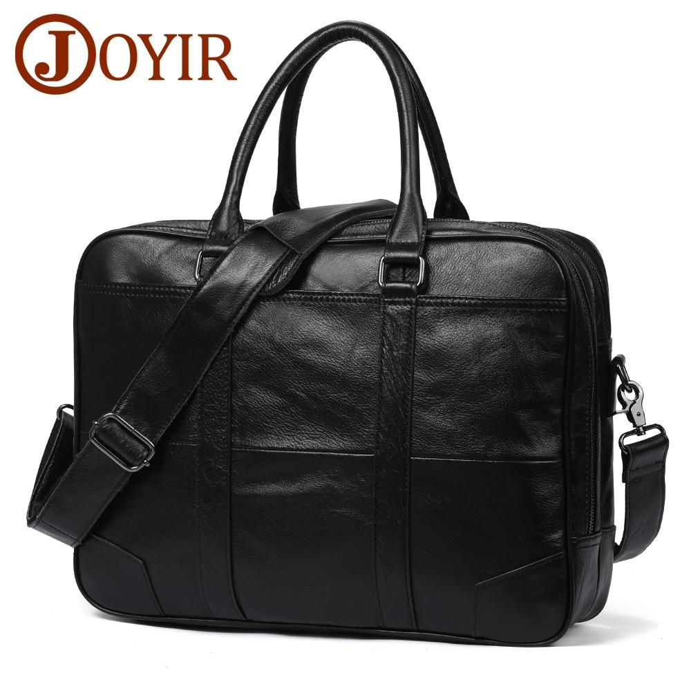 JOYIR Genuine Leather Bag Business Men Bags Laptop Tote Briefcases Messenger Crossbody Bags Shoulder Handbags Leather Men's Bag