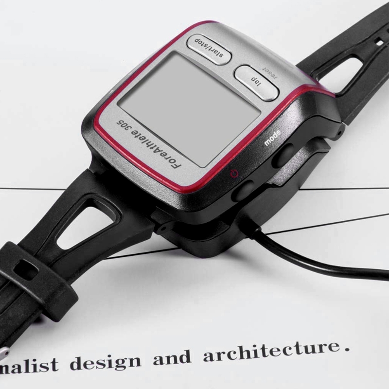 USB Charger Cradle Dock Cable for Garmin Forerunner 205 /<font><b>305</b></font> <font><b>GPS</b></font> Smart Watch 1M D08A image