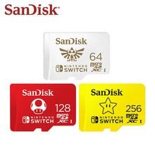 Mais novo sandisk 256gb micro cartão sd u3 128gb cartão flash 64gb cartão de memória 4k ultra hd tf cartão original para nintendo switch