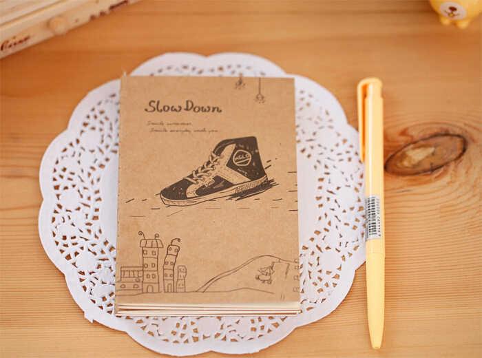 Ellen Brook 1 piezas coreano papelería creativa de suministros de oficina de la escuela Retro lindo figura Filofax diario Notebook