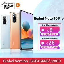 [Lanzamiento mundial En stock] Versión global Xiaomi Redmi Note 10 Pro Smartphone 108MP Cámara Snapdragon 732G 120Hz AMOLED Pantalla