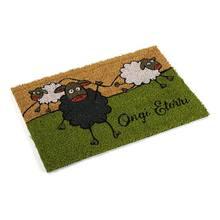 Paillasson noir mouton (40x2x60 cm)