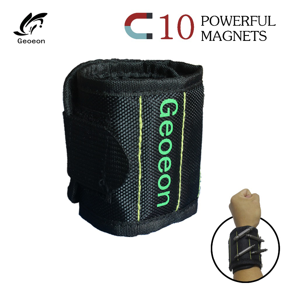 Geoeon Hand-Bracelet Pliers Magnetic-Wristband-Tool-Bag Screws Strong-Magnets For Holding-Hammer