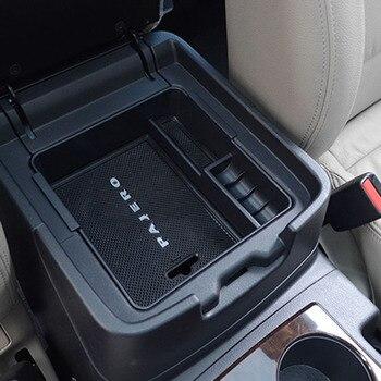 Car Armrest Box Storage Center Console Storage Box for Mitsubishi PAJERO V93 V97 V98 2007-2019 leather car armrest for kia picanto centre console storage box