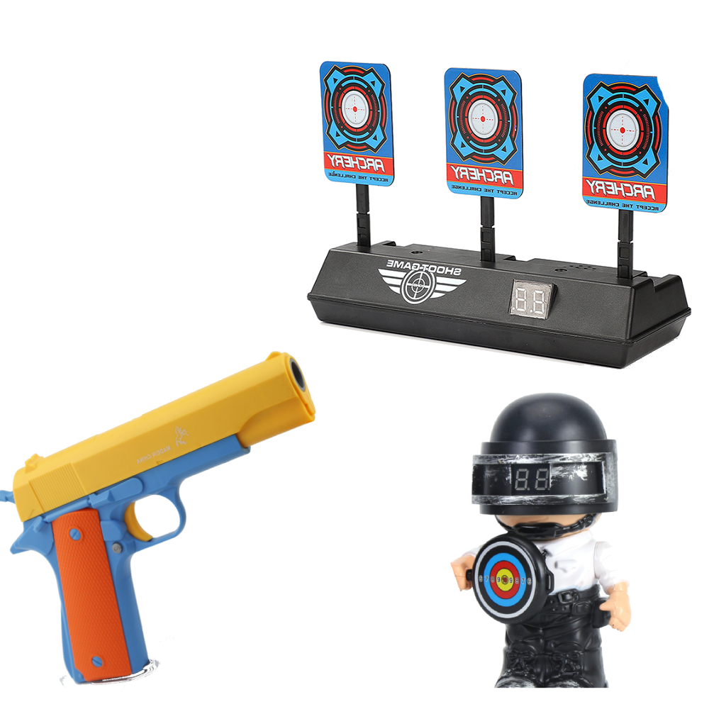 Targets Shooting Bullet Gun Targets Soft Air Bullet Toy Plastic Set T-shape