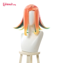 L email wig LOL Star Guardian Neeko Cosplay Wigs Short Mixed Color Game Cosplay Wig Heat Resistant Synthetic Hair Halloween