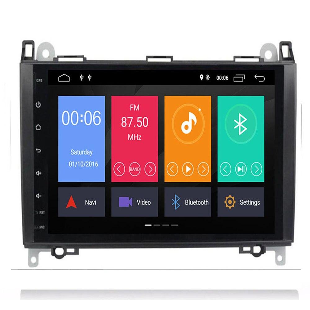 9Inch Android 9 Auto GEEN DVD Radio voor Mercedes/Benz/Sprinter/B200/W245/B170 /W209/W169 VW Crafter met BT 4GWifi GPS Radio 4GRAM - 4