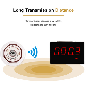 Image 2 - Retekessワイヤレス通話システムレストランポケットベル音声放送受信ホスト + 10 個のコールボタンコール顧客サービスF3360
