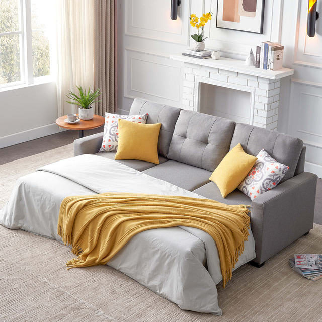 Sectional Sofa Corner Bed With Storage  1