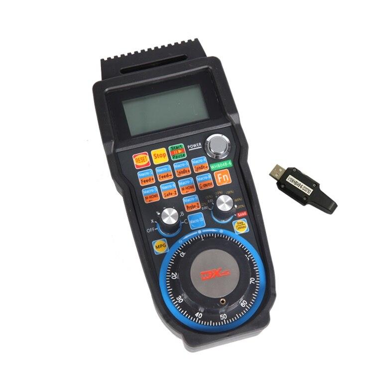 Rueda de mano electrónica inalámbrica MACH3 manija de USB CNC de 4 ejes MPG handheld WHB04B - 2