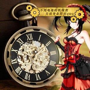 Image 5 - Nieuwe Anime Action Figure Datum Een Live Tokisaki Kurumi Mechanische Zakhorloge Unisex Studenten Cosplay Waterdicht Horloge Gift