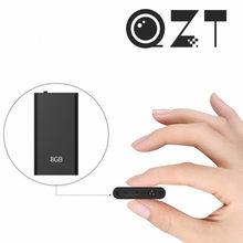 QZT – Mini lecteur MP3, petit enregistreur Audio numérique, Micro enregistreur vocal, appareil d'enregistrement Dictaphone