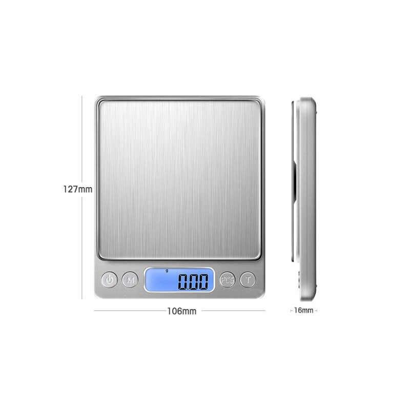 3kg 5kg 0.1g Kỹ Thuật Số cân Nặng cân điện tử hẹn giờ Cà Phê Cân điện tử Cân Bằng Nội Trợ Cơ cân