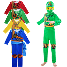 Leg Kids Ninja Cosplay Costume 3 Jumpsuit Set Halloween and Christmas Party Costume Street Costume Ninja