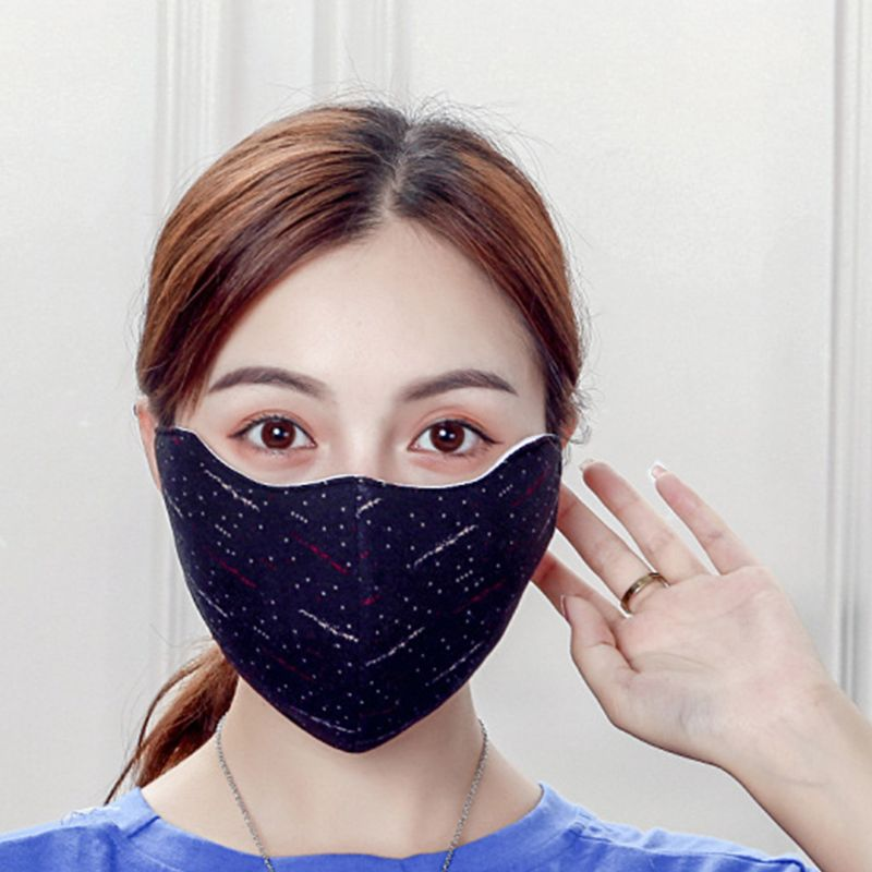 Unisex Dustproof Windproof Mouth Mask Stripes Print Washable Sport Mouth-muffle
