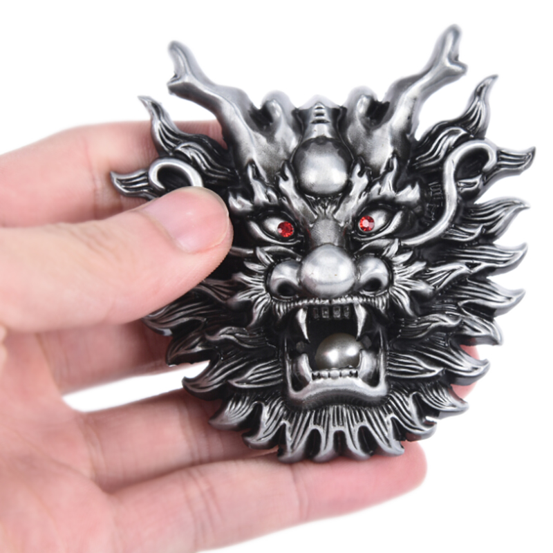 Dragon Metal Cool Belt Buckles For Man Unisex Western Fashion Buckle Cowboys Cowgirls Paracord Buckle Dropshipping