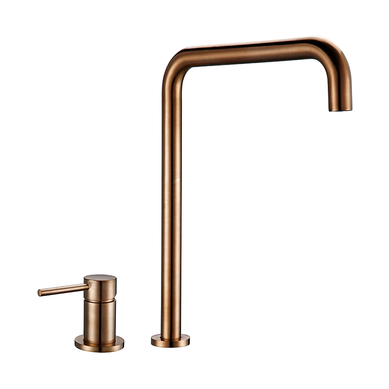 Bagnolux Golden Kitchen Faucet Single Rod Ceramic sheet valve core Hot And Cold Sailor Operated Kitchen Hotel Type Faucet