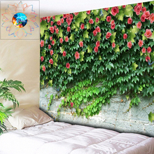 Plant Flower On Stone Wall Tapestry Mandala Wall Hanging Large Wall Tapestry Cheap Hippie Boho Wall Tapestries Mandala Fabric все цены