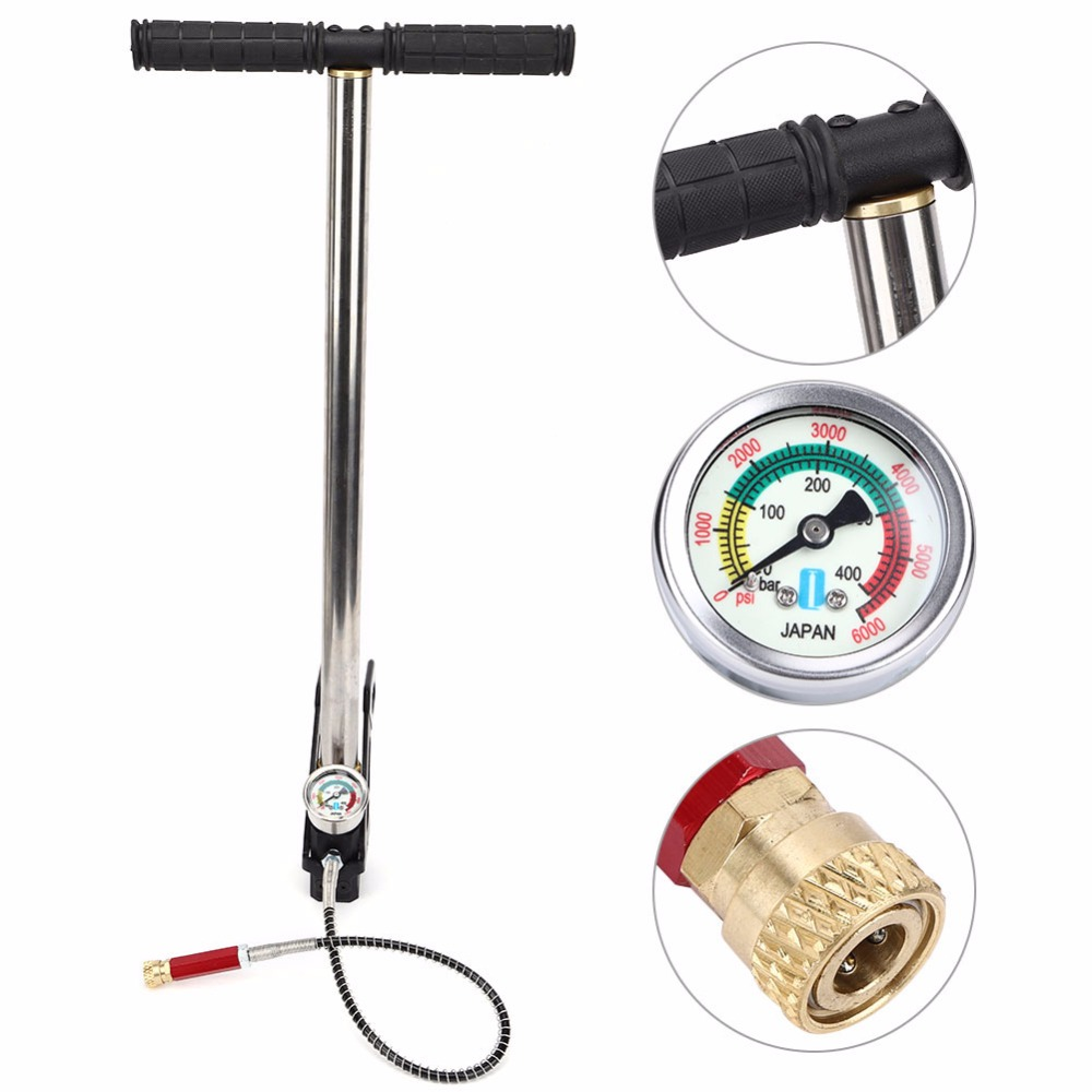 high pressure 4500psi floor pump with pressure gauge Foldable LI 02 Suitable for most brands of PCP pistols rifles and air rifles Stainless steel 304 air pump