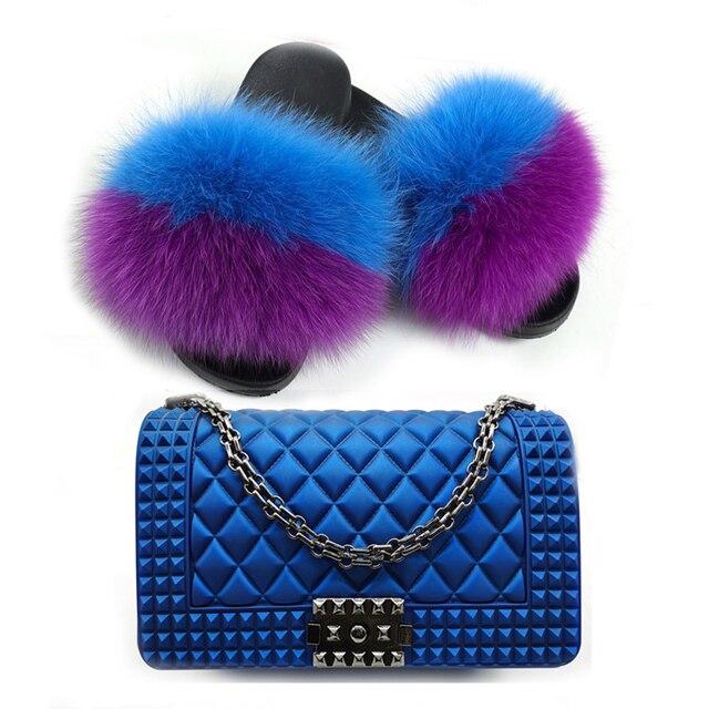 Купить женские меховые тапочки комплекты красочных сумок летняя модная картинки цена