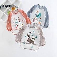 Детские нагрудники; Одежда для младенцев; шарф для малышей; халат с длинными рукавами; водонепроницаемые аксессуары; милые животные; bavoir; одежда для малышей