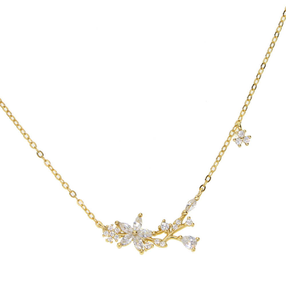New arrive dainty delicate four star lucky girl chain cz star charm 100% 925 sterling silver choker chain silver necklace