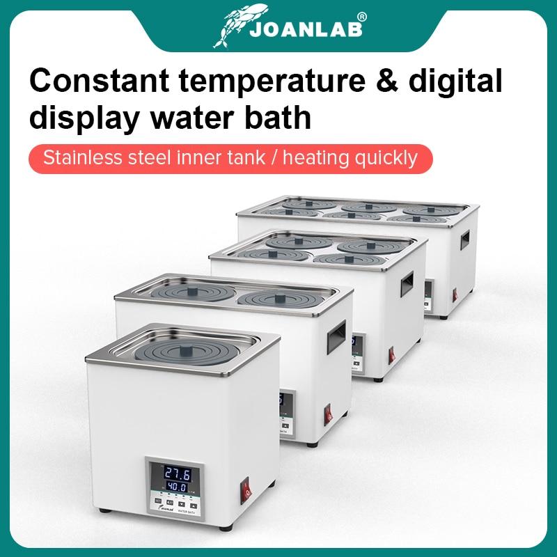 JOANLAB Laboratory Water Bath Constant Temperature LCD Digital Display Lab Equipment Thermostat Tank 6 4 2 1 Single Hole 220v 1