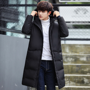 Image 3 - 2020 New Long Down Coat Men Coat Winter Down Jacket Warm Thicken Hooded Overcoat Comfortable Male Solid Color