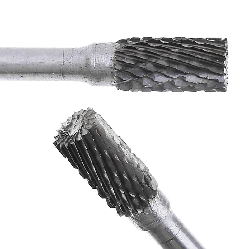 Carbide Rotary File Milling Shank 6mm Metal Grinding Cutter Head Burr 12mm Head