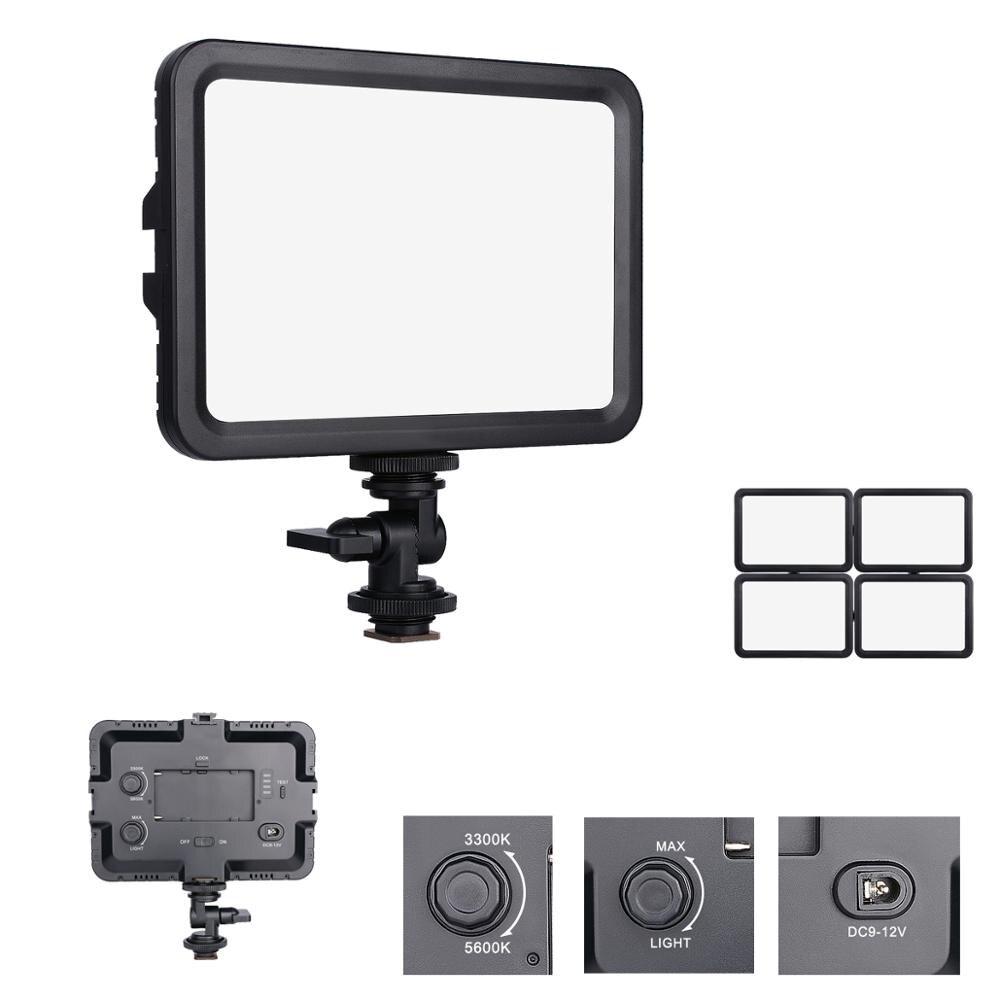 Double température de couleur 3300-5600K Portable Led lumière vidéo Stepless Dimmable éclairage photographique pour Canon Nikon Pentax DSLR