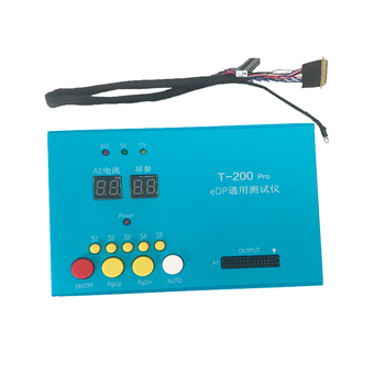 Universal T-200 Pro EDP herramienta de prueba LCD EDP probador de LCD panel probador kit herramientas 10-27 pulgadas 30 PIN EDP cable de línea de prueba de pantalla