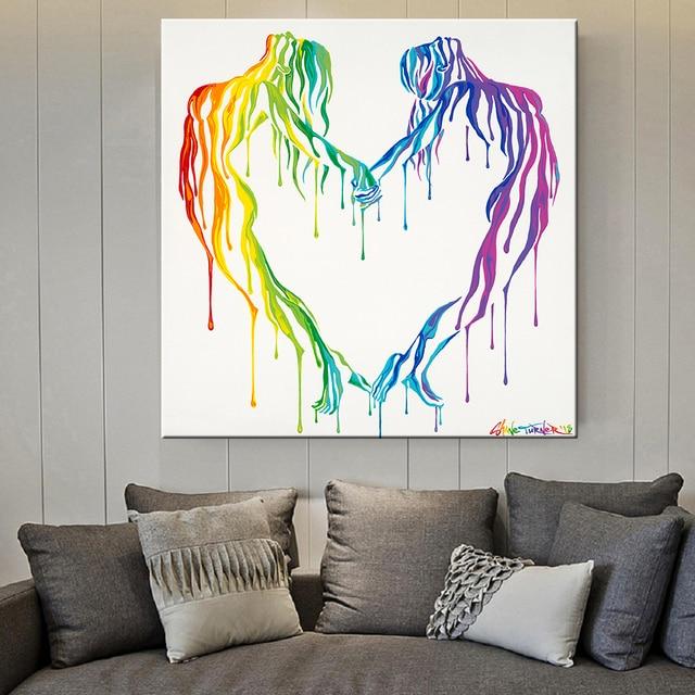 Фото скандинавский стиль любовь постер черно белый холст картина