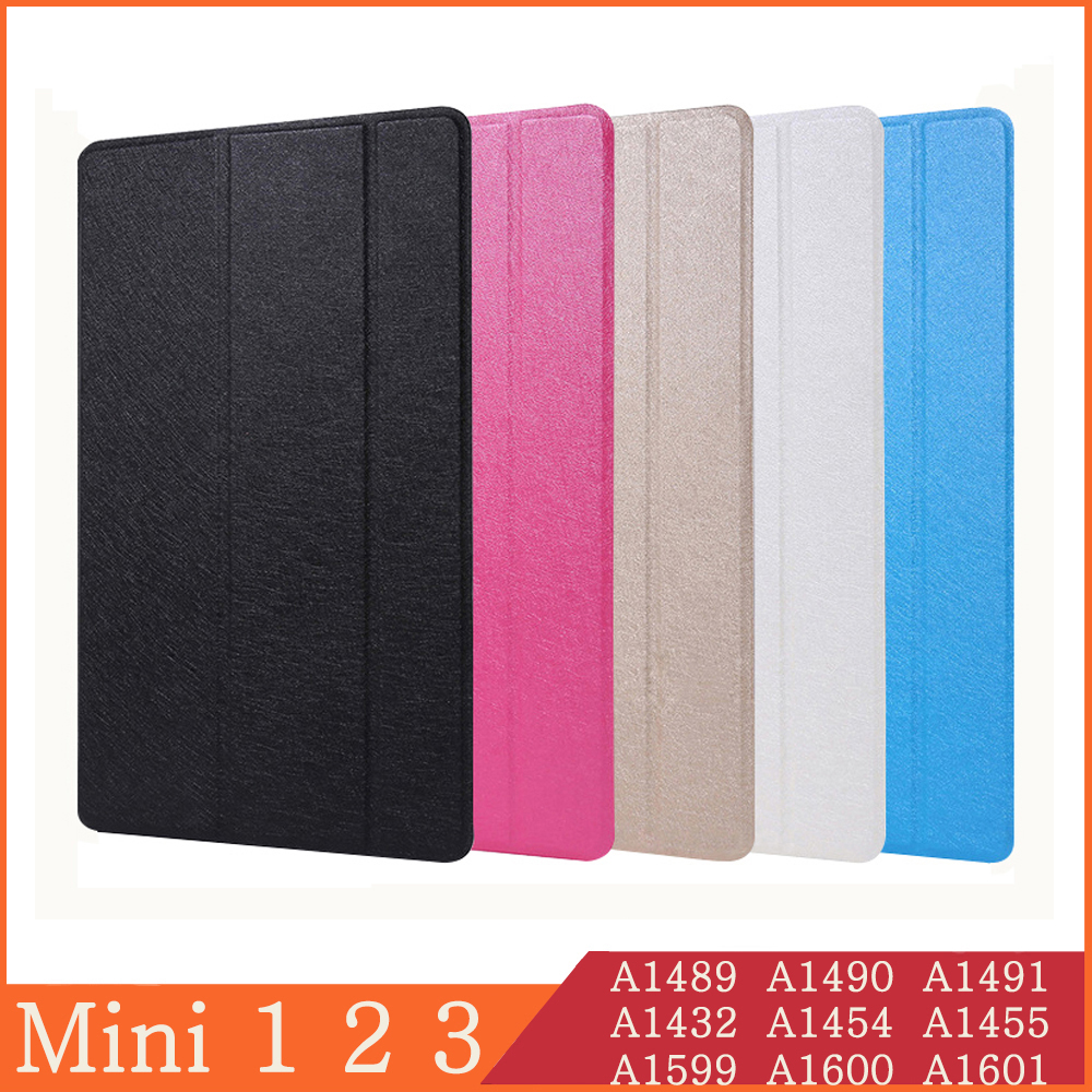 Magnetic Smart <font><b>Cover</b></font> <font><b>for</b></font> Apple <font><b>iPad</b></font> <font><b>Mini</b></font> 1 <font><b>2</b></font> 3 <font><b>A1489</b></font> A1490 A1491 A1432 A1454 A1455 Funda PU Leather Auto Wake Sleep Tablet Case image