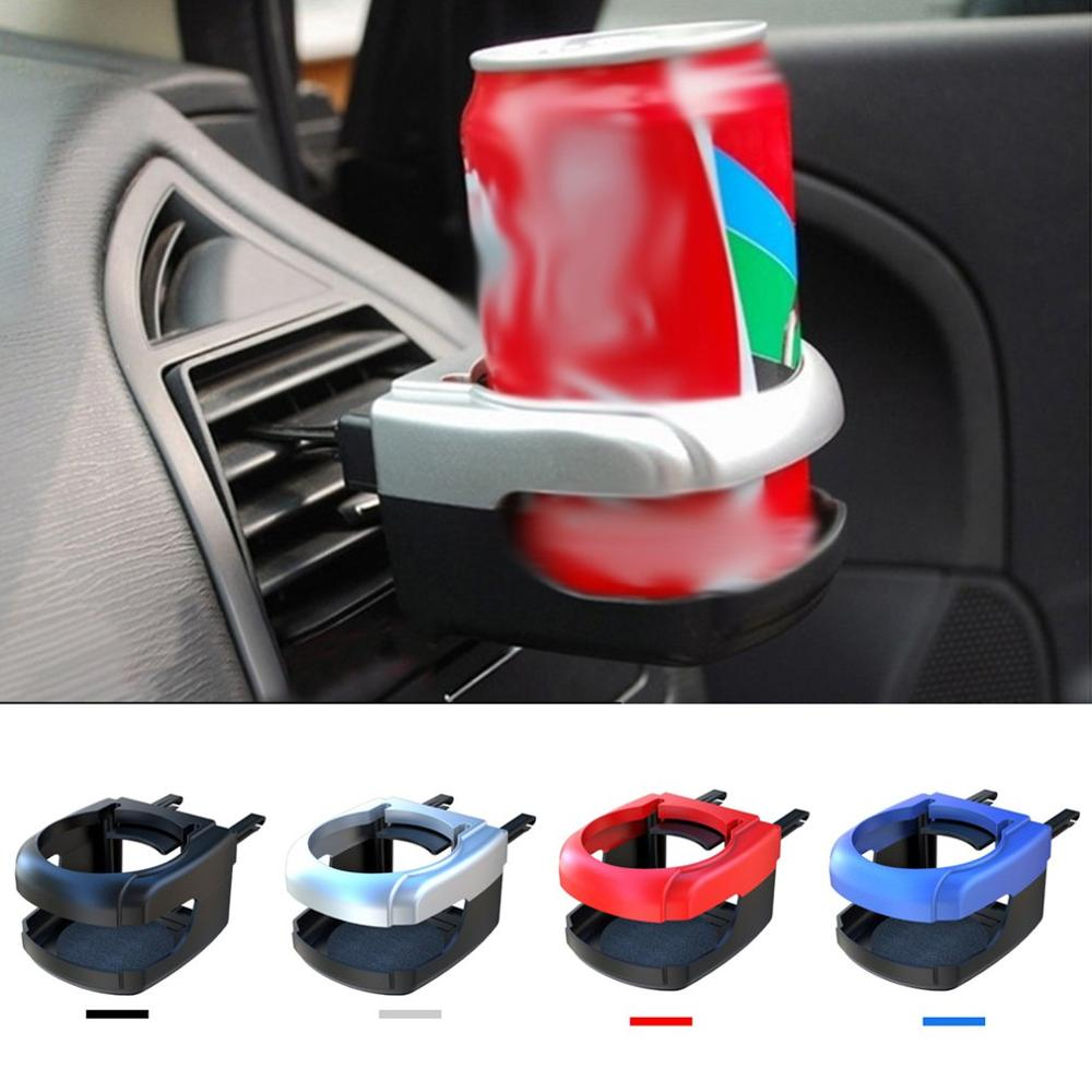 Car Cup Holder Coffee Organizer Auto Drinking Air Condition Vent Outlet Clip-on Auto Car Truck Vehicle;Black Candybarbar