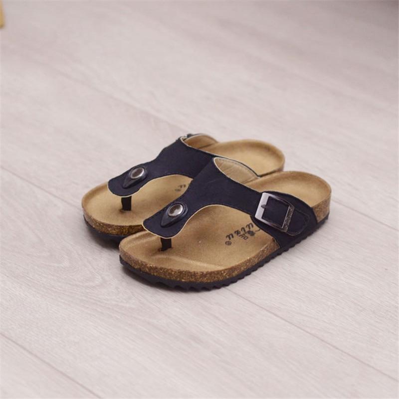 MHYONS Boy's Sandals For Children's Slippers Girls  New Summer Fashion Children's Cork Slippers Casual Slip Beach Flip Sandals
