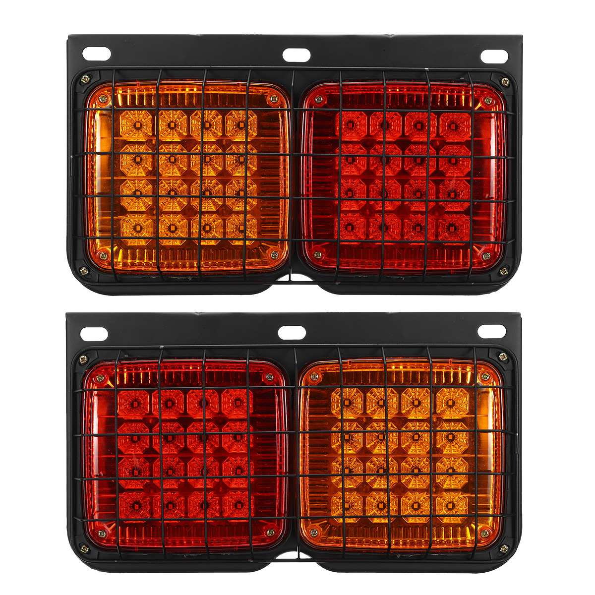 2PCS DC 24V 20 LED Waterproof Trailer Lights Truck Caravan Durable Trailer Light Auto Rear Side Lamp Car Truck Accessories
