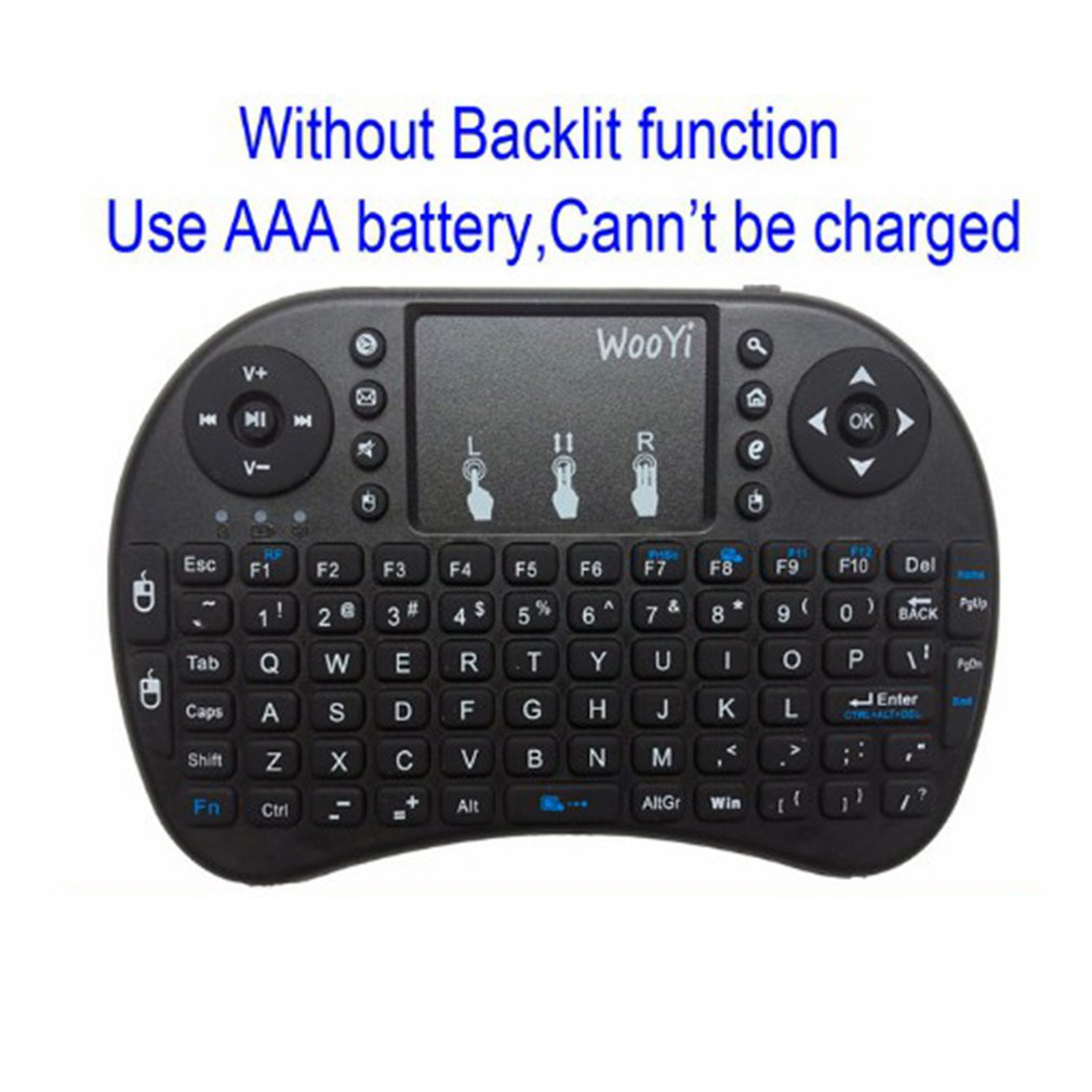 <font><b>I8</b></font> Mini <font><b>Wireless</b></font> <font><b>Keyboard</b></font> <font><b>2.4Ghz</b></font> English Russian 3 Colour Air Mouse With Touchpad Remote Control Android Tv Box image